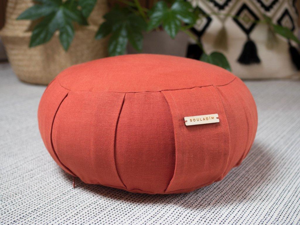 Zafu meditacni polstar Terracotta 1