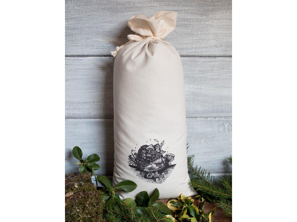 Pohankove slupky bavlneny pytlik boruvka